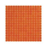 Mozaïek Amsterdam Basic 32.2x32.2 cm Glas Met Fijne Korrels Donker Oranje (Prijs Per 1.04 m2)