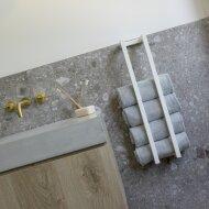 Handdoekenrek Klein BWS Industrieel 60x12.5x12.5 cm Mat Wit