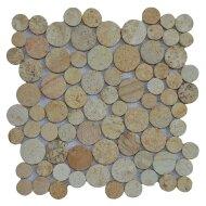 Mozaïek Coin Yellow Sand Sandstone 30x30 cm (Prijs per 1m²)