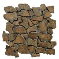 Mozaïek Hout Natural Root Old Teak 30x30 cm (Prijs per 1m²)