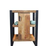 Onderkast Boss & Wessing Mineola Mango Wood 60x40x81cm Met Mat Zwart Metaal