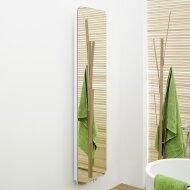 Handdoekradiator IP Cupertino Spiegel Blank In 6 Verschillende Maten (Ook in elektrische uitvoering)