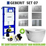 Geberit UP320 Toiletset set07 Wiesbaden Prio Randloos met Sigma drukplaat
