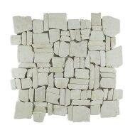 Mozaiek Random Cream Marmer 30x30 cm (Prijs per 1m²)