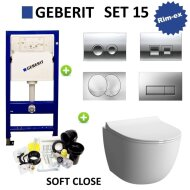 Geberit UP100 Set15 Zero Rim-ex met Delta drukplaat