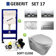 Geberit  up100 set17 Gustavsberg Saval Vlakspoel met Delta drukplaten