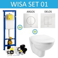 Wisa XS Toiletset set01 Boss & Wessing Basic Smart met Argos of Delos drukplaat