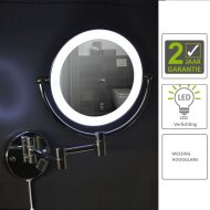 Cosmeticaspiegel Best Desing Steiner Chroom met LED (20 cm)   Tegeldepot.nl