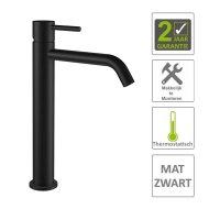 Wastafelmengkraan Boss & Wessing Exclusive XL 1-hendel Mat Zwart