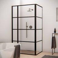 BWS Douchecabine Frame 90x120 cm 8 mm NANO Glas Mat Zwart Raster