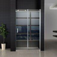 Schuifdeur Tweedelig Boss & Wessing Lusso 120x200 cm Helder Glas Aluminium Profiel Chroom