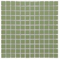 Mozaïek Barcelona 30x30cm Geglazuurd Porselein Glanzend Olijf Groen (Prijs Per 0.90 m2)