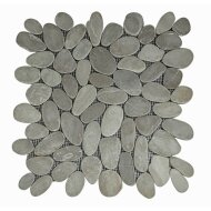 Mozaiek Mat Pebble Sliced Tumb Honed S Brown Asian Tan Sea Stone 30x30 cm (Prijs per 1m²)