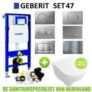 Geberit UP320 Toiletset set47 Villeroy & Boch O.Novo Compact Met Sigma drukplaat