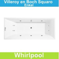 Ligbad Villeroy & Boch Squaro 170x75 cm Balboa Whirlpool systeem Enkel | Tegeldepot.nl
