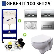 Geberit UP100 Toiletset set25 Geberit Econ Rimfree met Delta drukplaten