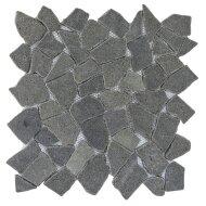 Mozaïek Y Black Grey Lava/Riverstone 30x30 cm (Prijs per 1m²)