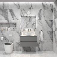 Badkamermeubelset Gliss Zeus 90 cm Beton Grijs Met Waskom