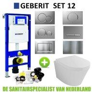 Geberit UP320 Toiletset set12 Wiesbaden Vesta 52 cm met Sigma drukplaat