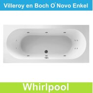 Ligbad Villeroy & Boch O.novo 180x80 cm Balboa Whirlpool systeem Enkel | Tegeldepot.nl