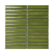 Mozaïek Sevilla Kit-Kat 29.6x29.9 cm Geglazuurd Porselein, Glanzend Groen (Prijs Per 0.89 m2)