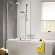Badwand Get Wet by Sealskin Custom 100x140 cm Zilver hoogglans Helder glas Rechts