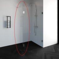 Zijwand Draaibaar Profielloos Just Creating DZ1 40 cm Zonder Beslag Omkeerbaar Helder Glas