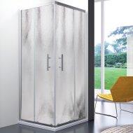 Douchecabine Lacus Panarea Vierkant Chinchilla Glas Aluminium Profiel Chroom