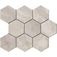 Hexagontegel Cristacer Tavertino Di Caracalla Silver 35.5x29.2 cm (Per m2)