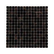 Mozaïek Amsterdam Basic 32.2x32.2 cm Glas Met Fijne Korrels Zwart/Goud Mix (Prijs Per 1.04 m2)