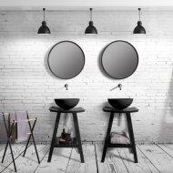 Badkamermeubelset Cipi Zen Consolle 60 cm Hout Naturel (inclusief spiegel en opbouw waskom)