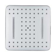 Hoofddouche VM Bisa Vierkant 1/2 Inch 1 Stand 20x20cm Antikalk Waterbesparend Chroom