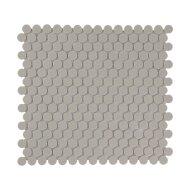 Mozaïek London 31.5x29.4 cm Onverglaasd Porselein Rond, Mat Antislip En Grijs (Prijs Per 0.93 m2)