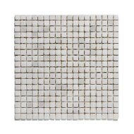 Mozaïek Natural Stone 30.5x30.5 cm Ongeïmpregneerd, Marmer Cararra Anticato Wit (Prijs Per 1.00 m2)