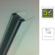 BWS Glasprofiel Chroom t.b.v. Muurprofiel glasdikte 1 cm lengte 200 cm