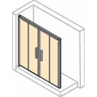 Huppe Design Pure Gtn 2-dlg. Schuifdeur 180x200 Cm.met Vast Segment Matzilver-helder Glas