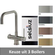 Kokendwaterkraan Selsiuz Steel Haaks Inclusief Boiler (Keuze uit 3 boilers en 4 kleuren)