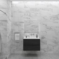 Badkamermeubelset Gliss Zeus 90 cm Zwart Eiken