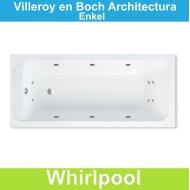 Ligbad Villeroy & Boch Architectura 160x70 cm Balboa Whirlpool systeem Enkel | Tegeldepot.nl