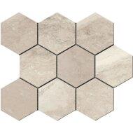 Hexagontegel Cristacer Tavertino Di Caracalla Blanco 35.5x29.2 cm (Per m2)