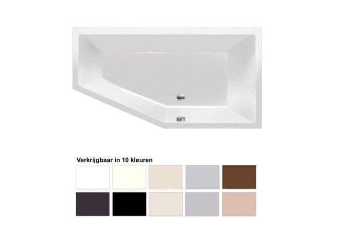 Ligbad Beterbad Xenz Society Rechts Acryl 160x90x50 cm (Verkrijgbaar in 10 kleuren)