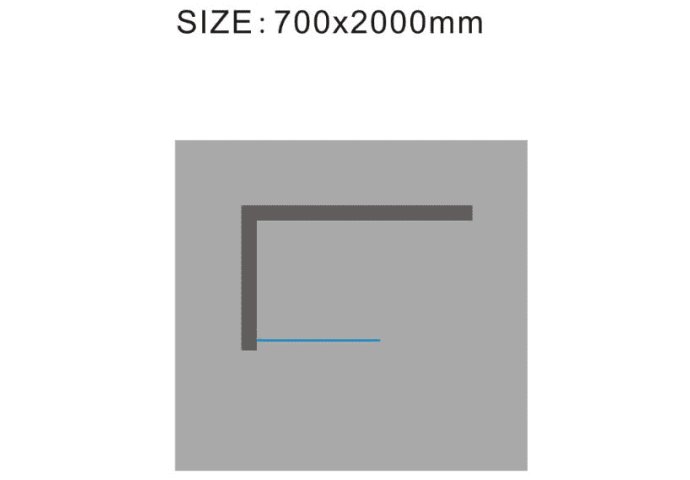 Douchewand Wiesbaden 70x200cm 10mm NANO coating