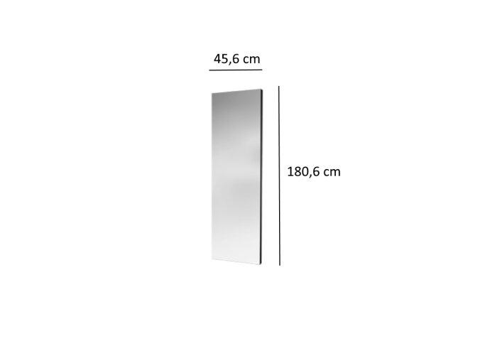 Designradiator Plieger Perugia Specchio 564 Watt Met Spiegel 180,6x45,6 cm Wit
