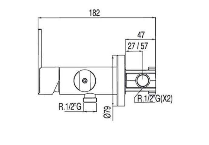 Lex-Tres inbouw eenhendelkraan voor bidet 181223 (Bidetkraan)