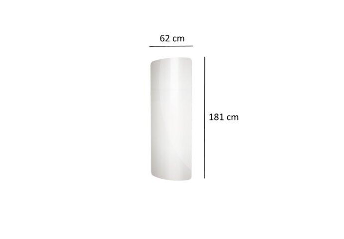 Designradiator Plieger Perugia Vetro 989 Watt Middenaansluiting 181x62 cm Wit