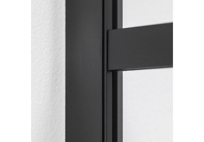 Inloopdouche BWS Black Line 70x200 cm 8mm NANO Glas Mat Zwart Raster