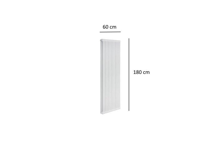 Designradiator Plieger Florence 1677 Watt Zijaansluiting 180x60 cm Wit