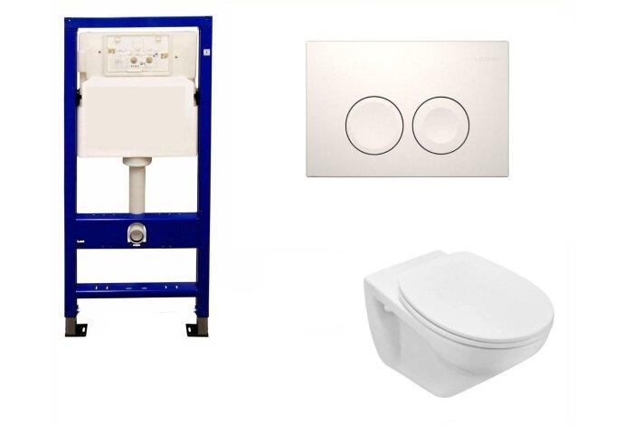 Geberit UP100 Toiletset set01 Design met Delta drukplaten