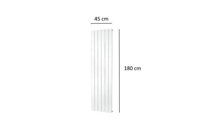 Designradiator Plieger Cavallino Retto Enkel 910 Watt Middenaansluiting 180x45 cm Wit