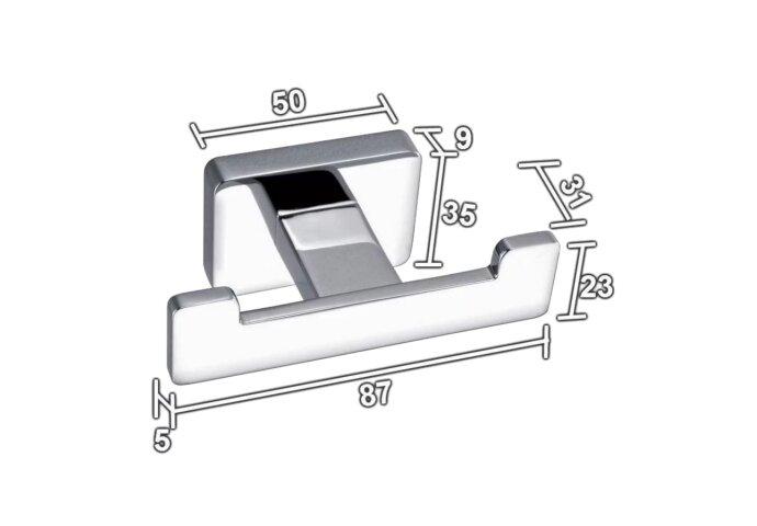 Handdoekhaak Sanilux Cube Vierkant Jashaak Chroom